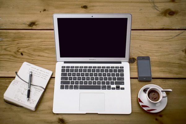 Een kapot MacBook scherm